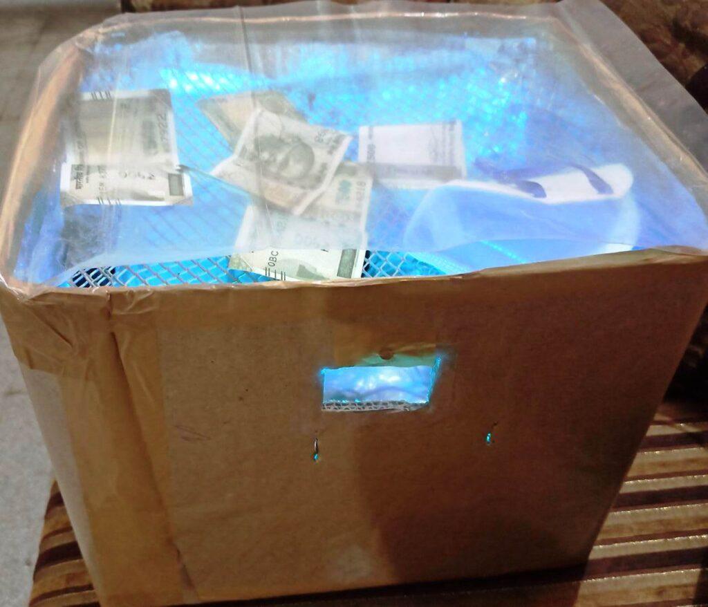 Currency sanitizer machine 1