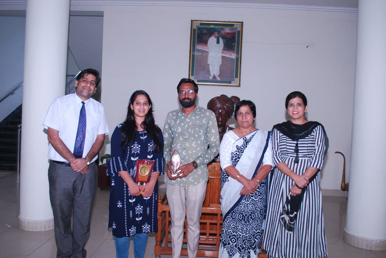Megha and Rohit with Dr. Shamim Sharma
